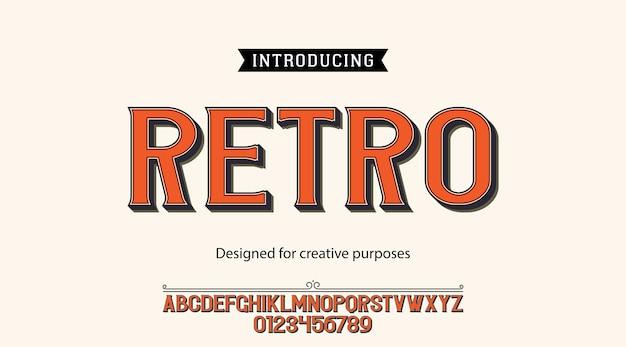 Tipografía retro. para fines creativos Vector Premium