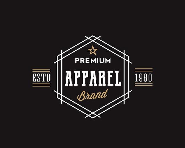 Tipografía retro de marca de ropa premium vector gratuito