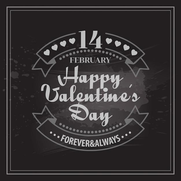 Tipografía tarjetas de san valentín. Vector Premium