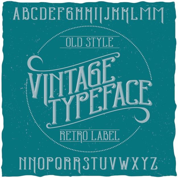 Tipografía vintage llamada vintage vector gratuito