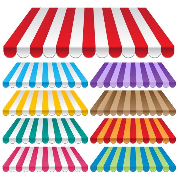 Toldos De Colores Vector Gratis