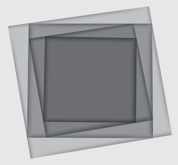 Tonos de fondo cuadrado blanco Vector Premium