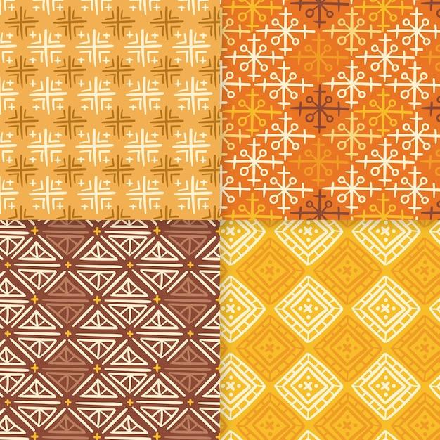 Tonos de la plantilla de patrones sin fisuras songket amarillo vector gratuito