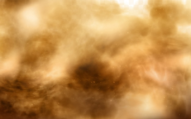 Tormenta de arena del desierto, nube de polvo marrón en transparente vector gratuito