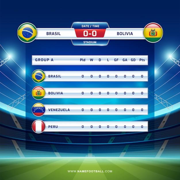 Torneo de fútbol emitido en sudamerica torneo 2019, grupo a Vector Premium