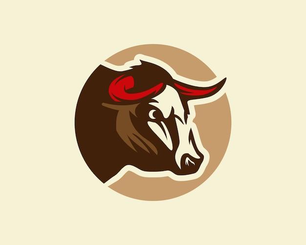Toro, Silueta De Una Cabeza De Toro