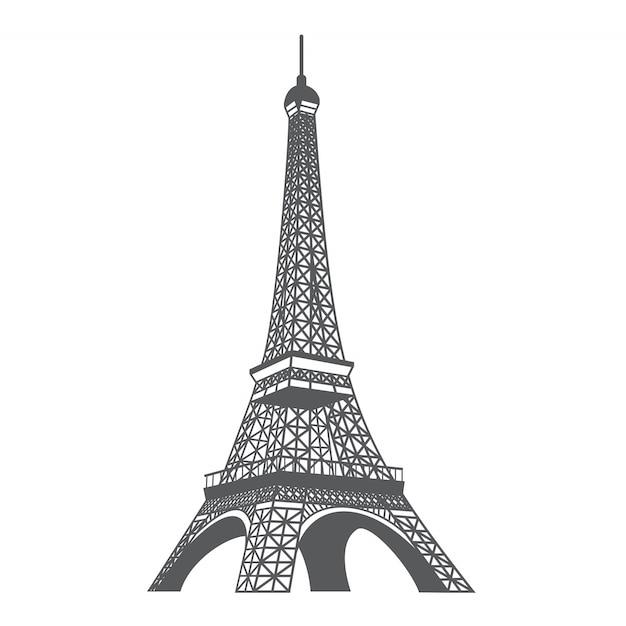 De la torre eiffel vector gratuito