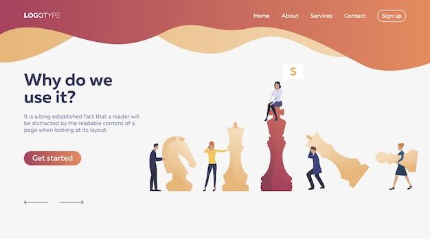 Trabajadores jugando ajedrez vector gratuito