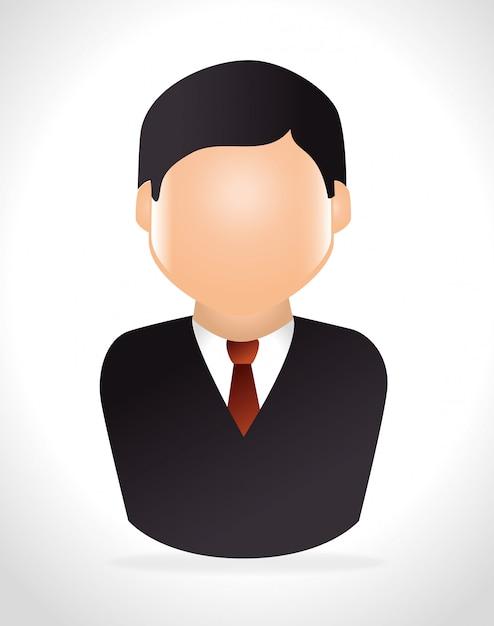 Trabajo profesional de empresarios. Vector Premium