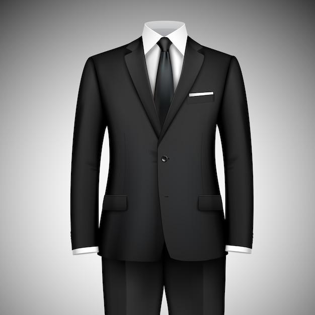 Traje de hombre de negocios Vector Premium