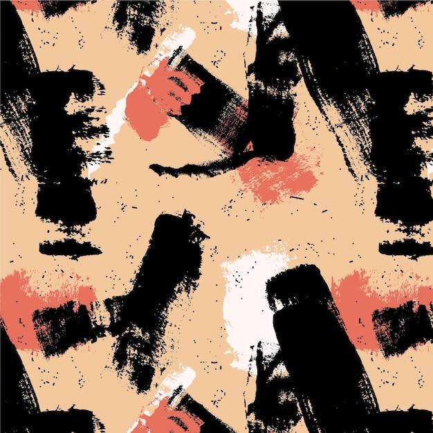Trazo de pincel abstracto tonos neutros patrón de pintura vector gratuito