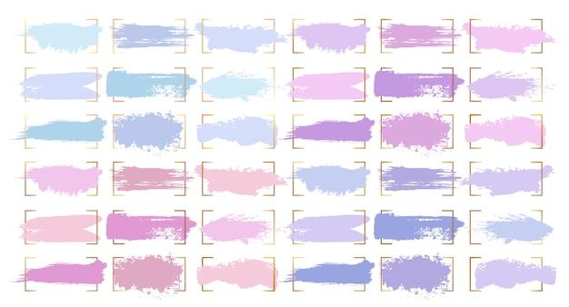 Trazos de pincel abstracto, manchas de color pastel vector gratuito
