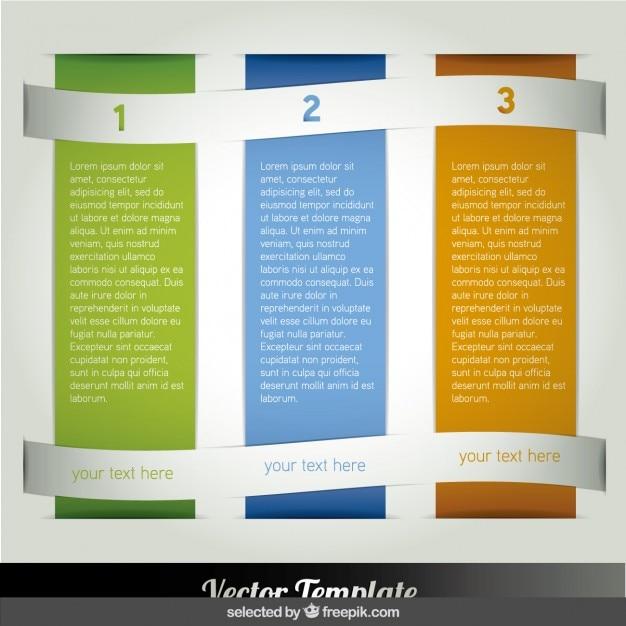 tres columnas infograf a vector gratis. Black Bedroom Furniture Sets. Home Design Ideas