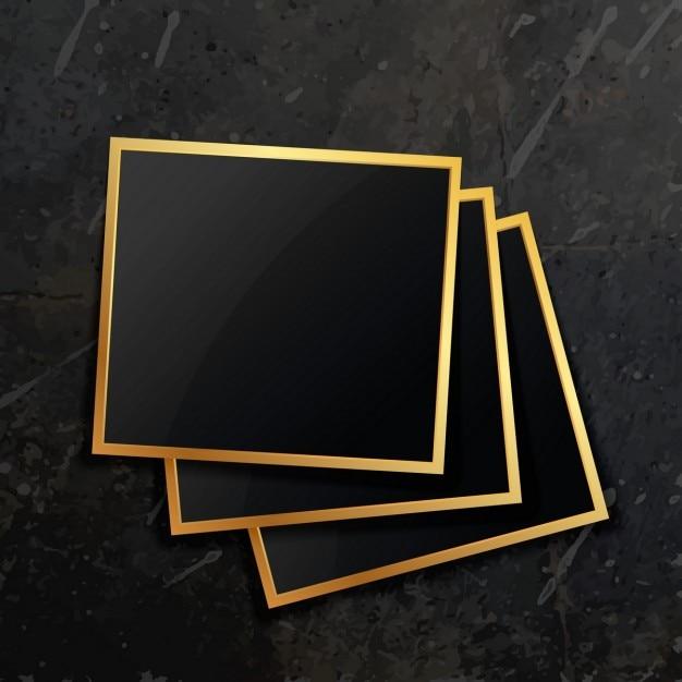 Tres marcos de lujo | Descargar Vectores gratis
