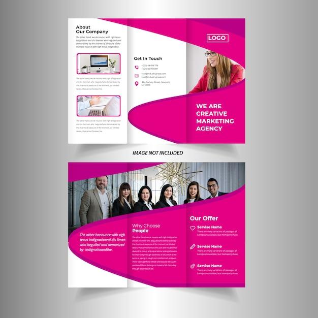 Tri fold brochure vector template design | Descargar Vectores Premium