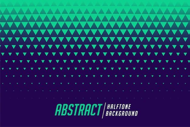 Triángulo abstracto estilo de trama de semitonos de fondo vector gratuito