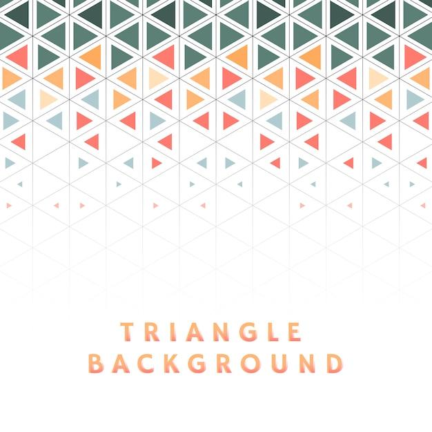 Triángulo colorido estampado sobre fondo blanco vector gratuito