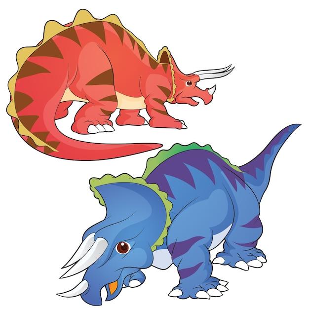 Triceratops Vector Premium