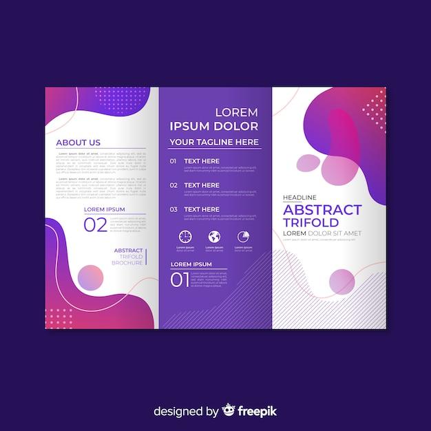 Tríptico abstracto plano vector gratuito
