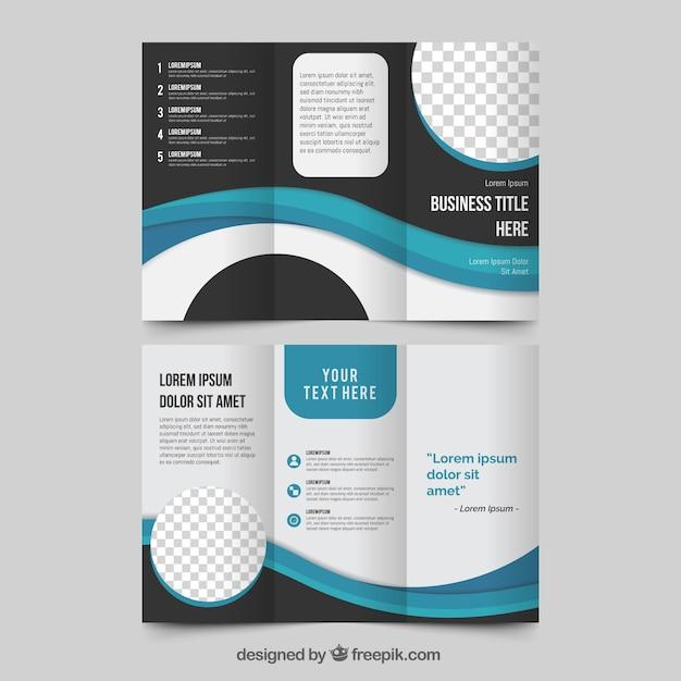Tríptico comercial en estilo abstracto vector gratuito