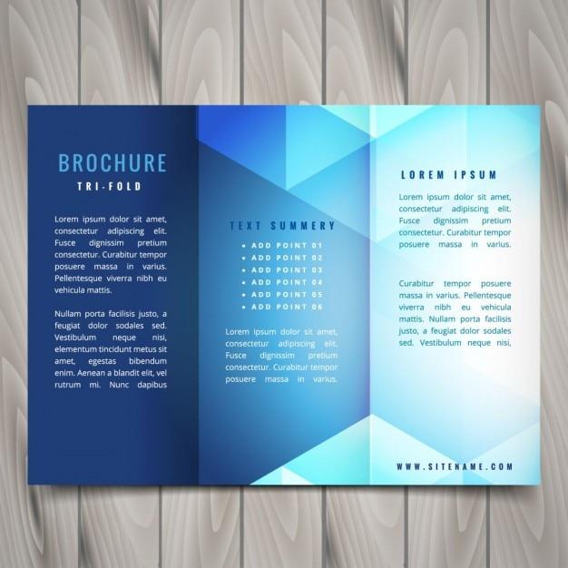 tr u00edpticos formas poligonales dise u00f1o de folletos