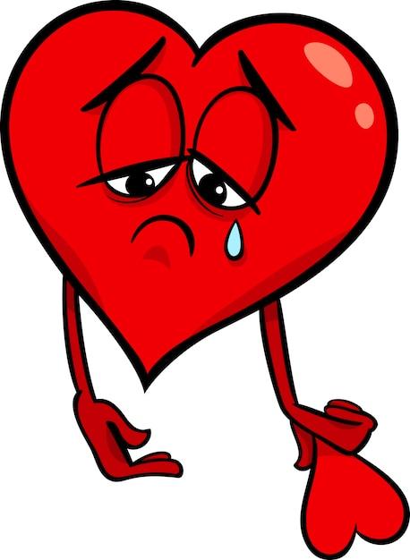 Triste Ilustración De Dibujos Animados De Corazón Roto Descargar