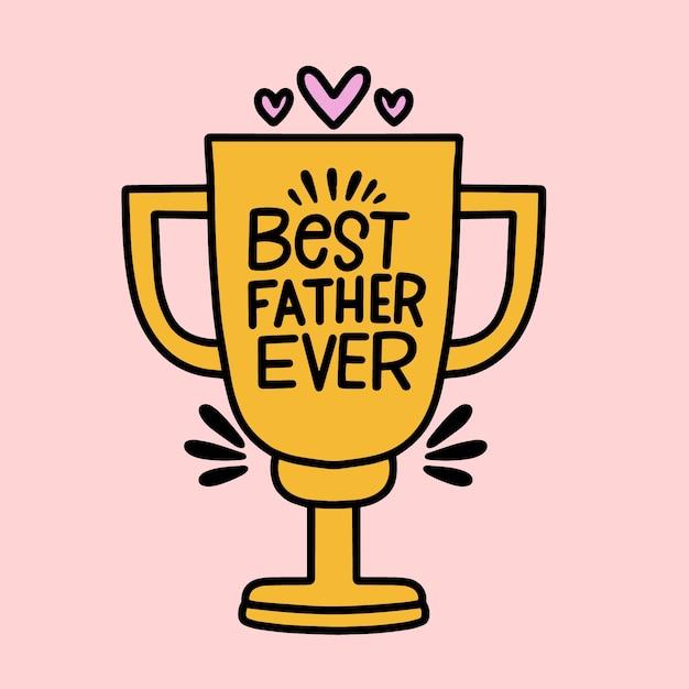 Trofeo al mejor padre Vector Premium
