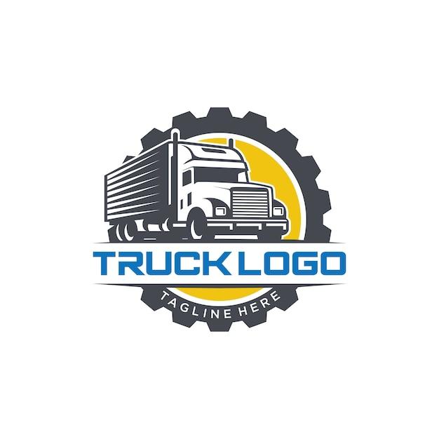 Truck logo vector imagen de archivo Vector Premium