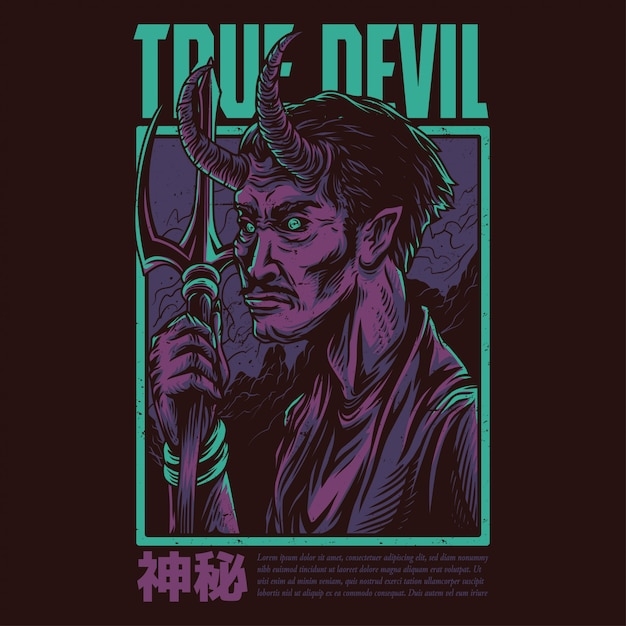 True devil Vector Premium