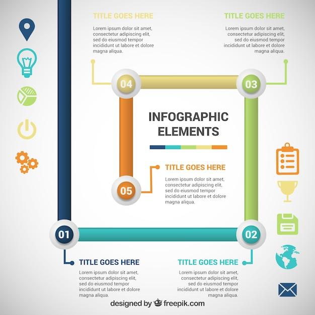 Tubos de colores infografía | Descargar Vectores gratis