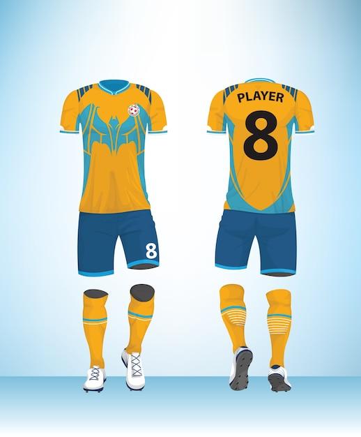 Uniforme de futbol azul amarillo  1e4b6110a6608