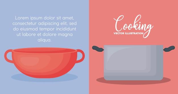 Utensilios de cocina vector gratuito