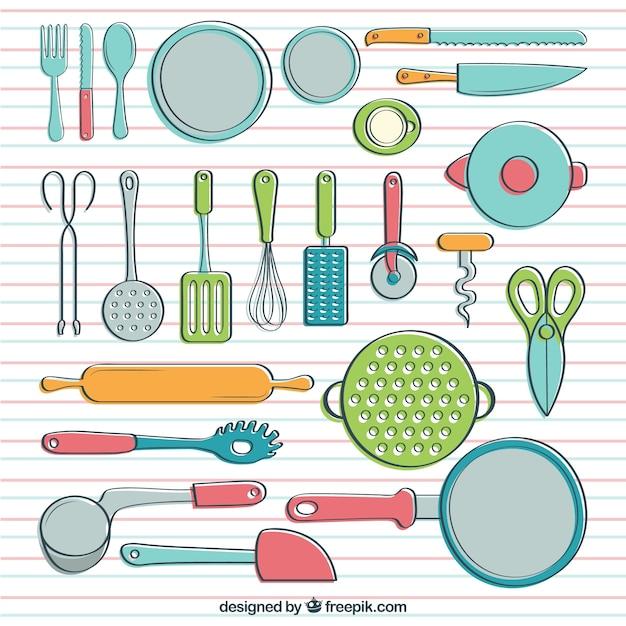 Utensilios de cocina con estilo hecho a mano descargar for Objetos para cocinar