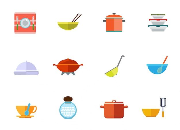 Utensilios de cocina conjunto de iconos descargar for Utensilios de cocina logo