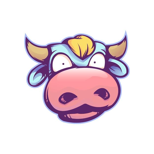 Vaca de dibujos animados lindo Vector Premium