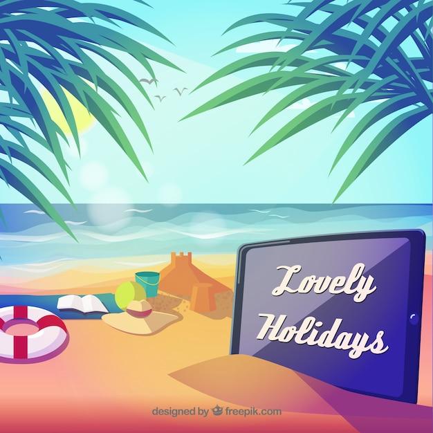 Vacaciones encantadores paisaje Vector Gratis