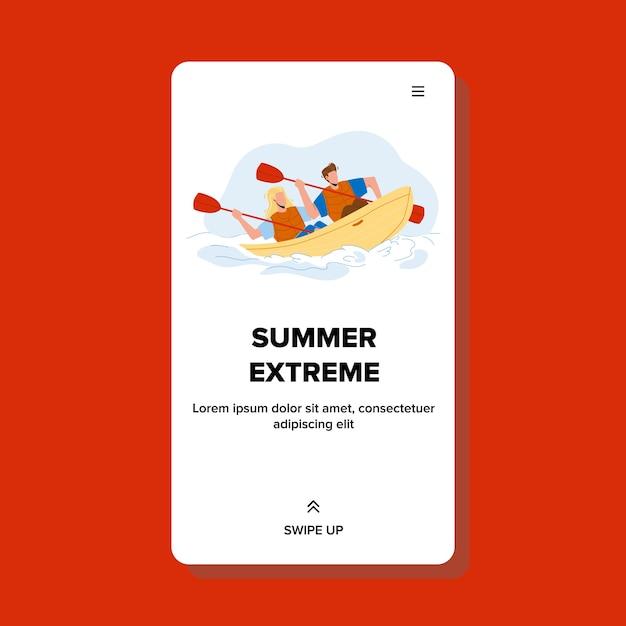 Vacaciones de verano extremas en kayak en el río Vector Premium