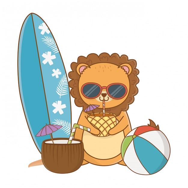 Vacaciones de verano relajarse dibujos animados vector gratuito