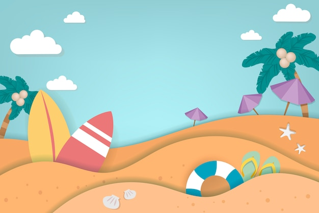 Vacaciones de verano tropical vector gratuito