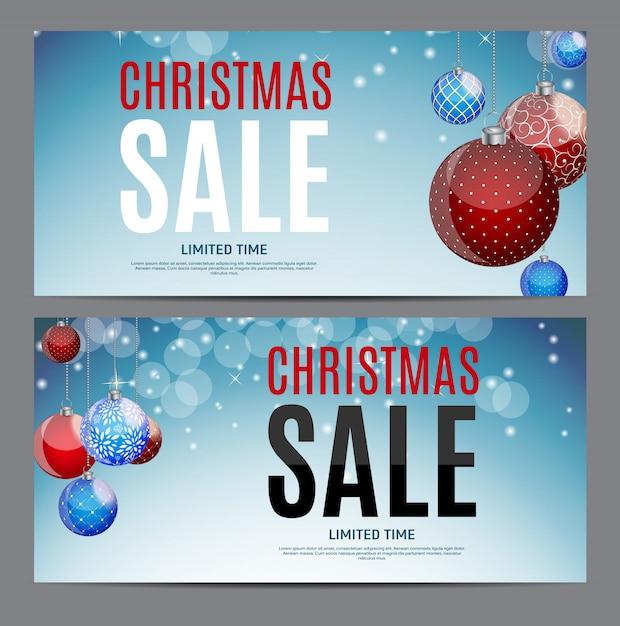 Vale de regalo de navidad, plantilla de cupón de descuento Vector Premium