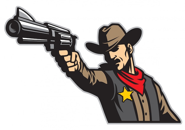 Vaquero apuntando el arma Vector Premium