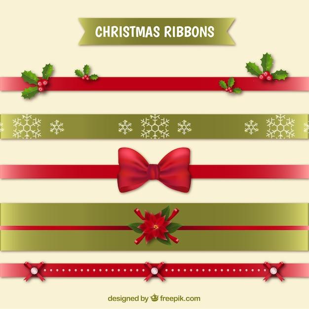 d45181f07c0e7 Varias cintas navideñas decorativas