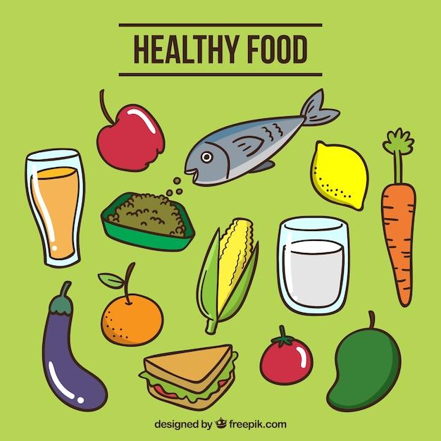 Variedad De Alimentos Saludables Coloridos