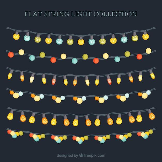 Variedad de bombillas de colores en cuerdas descargar - Cuerdas de colores ...