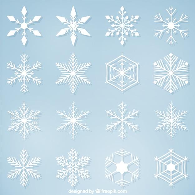 Variedad de copos de nieve decorativos para navidad - Decorativos de navidad ...