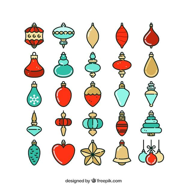 Variedad de objetos de navidad descargar vectores gratis for Objetos de navidad