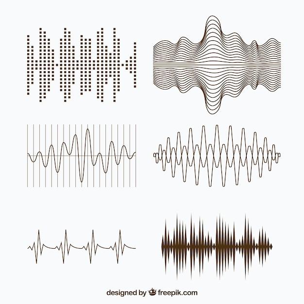 Variedad de ondas sonoras con diferentes dise os for Creatore facile piano piano gratuito