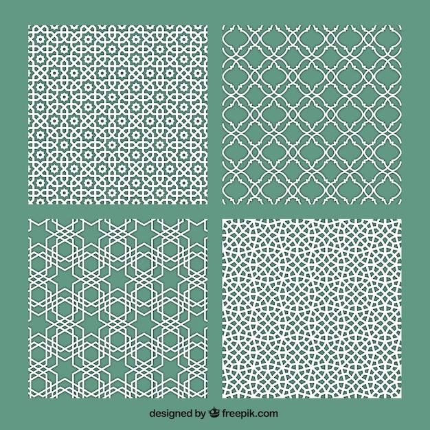 Variedad de mosaicos vector gratuito