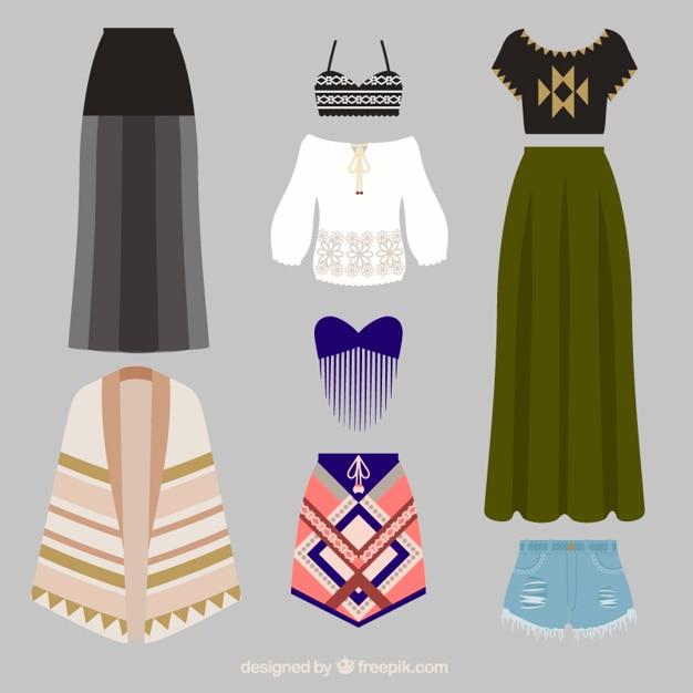 0ab27bfb3 Variedad de ropa étnica   Descargar Vectores gratis