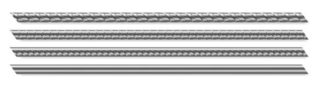 Varillas de metal, barras de refuerzo de acero reforzado vector gratuito
